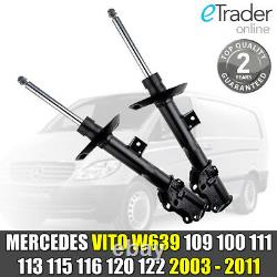 2 Front Shock Absorbers Mercedes Vito & Viano W639 2003-2010 Merc 109 110 115