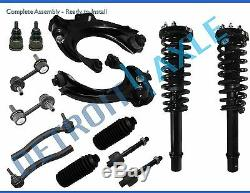 2003 2007 Honda Accord 2.4L 14pc Front Strut Control Arm Tie Rod Sway Bar Kit