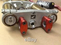 2004 Honda CRF250R Front Suspension Forks Shocks Triple Clamps Trees Fat Bars