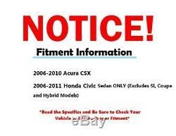 2006 2007 2008 2009 2010 Honda Civic SEDAN CSX Front Strut with Spring Rear Shocks
