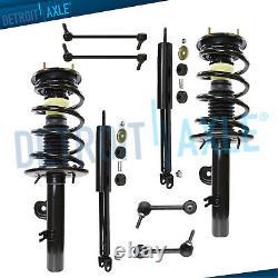 2010 2011 2012 Ford Flex 8pc Front Rear Struts & Spring Shock Absorber Sway Bars