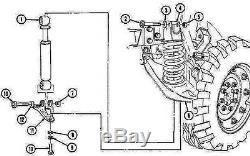 4 each Full Set of Shocks (2-FRONT+2-REAR) H1 Hummer Humvee 12340071 & 072