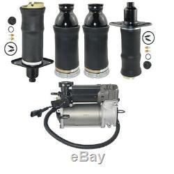 5pcs Kit of Air Spring + Air Suspension Compressor Pump For Audi A6 C5 Allroad