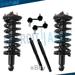 6pc Front Rear Struts Shocks Sway Bar Links For 2004 2005-2015 Nissan Titan 2WD