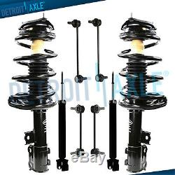8pc Front Struts & Rear Shocks Sway Bars Kit For Hyundai Elantra 2007-2010 2.0L