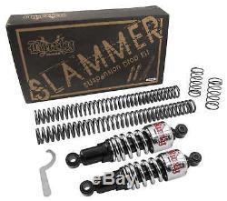 Burly Brand Chrome Front & Rear Lowering Slammer Kit Harley Touring FLH/T 84-13