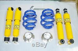Coilover Suspension Kit 2 Springs 4 Shock Absorbers Vw T4 Transporter Tdi