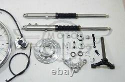 Customized Tracker Front Suspension Fork Kit Wheel Honda Cub C50 70 C90 1.85x17