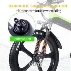 Ebike 48v 1000W Folding Cruiser Fat Tyre Shock Absorbers Electric Mountain Bike