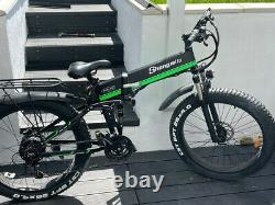 Electric Mountain bike 1000W 48v Folding Ebike Cruiser double shock absorbers