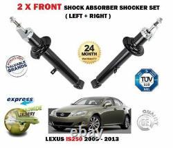 FOR LEXUS IS250 2.5 2005-2013 2x FRONT RIGHT + LEFT SHOCK ABSORBER SHOCKER SET