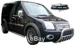 FORD TRANSIT CONNECT BULL BAR CHROME AXLE NUDGE 60mm 2002-2013 SUPER OFFER NEW