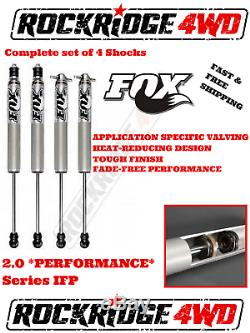 FOX IFP 2.0 PERFORMANCE Series Shocks for 84-01 Jeep Cherokee XJ with 4.5 of Lift