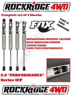 FOX IFP 2.0 PERFORMANCE Shocks w Stem Elim 87-95 Jeep Wrangler YJ 5- 6 of Lift