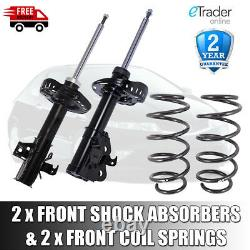 For Honda Civic Mk8 Front Shock Absorbers X 2 & Front Coil Springs Pair 2006