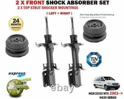 For Mercedes Vito W639 2003- 2x Front Shock Absorber Set + Top Strut Mounting