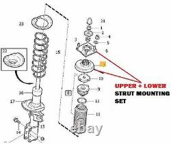 For Volvo Xc90 2002- 2x Front Strut Mounting + Shock Absorber + Coil Spring Kit