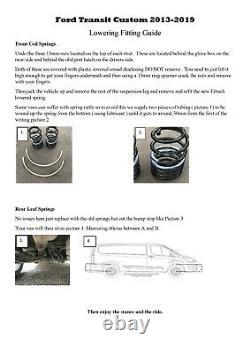 Ford Transit Custom Front & Rear Lowering Springs & Shocks 2014 2019 Eibach