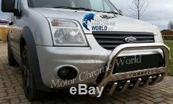 Ford Transit Tourneo Connect Bull Bar Chrome Axle Nude A-bar Logo 2002-2013 New