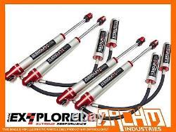 Front & Rear 2 Remote Res Shock Absorbers For Toyota Landcruiser 80/105 Series