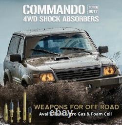 Front & Rear Commando Gas Shock Absorbers fit Nissan Patrol GQ Y60 GU Y61 Wagon