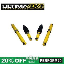 Front + Rear Extended Travel Shock Absorbers suits Toyota Hilux KZN165 9905 4X4