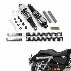 Front Rear Lowering Slammer Suspension Drop Kit For Harley FLHR Road King Chrome