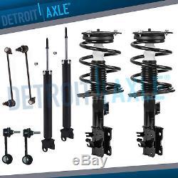 Front Strut Set Rear Shocks & Sway Bar Links for 2007 2008 2012 Nissan Altima
