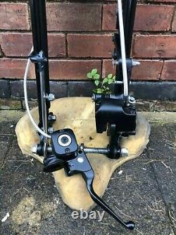 GENUINE Harley Davidson crossbones black springer forks/front end complete