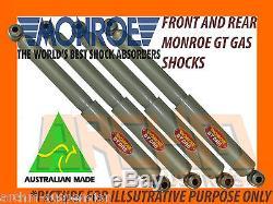Holden Gemini Tx Tc Td Te Tf Tg Sedan Front & Rear Monroe Gt Gas Shock Absorbers