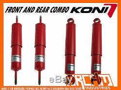 Koni Adjustable 2 Raised F & R Shock Absorbers For Nissan Patrol Gq Gu Y60 Y61