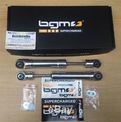 Lambretta Bgm Pro 6ts Slimline Front Shock Absorber / Damper. Silver. New