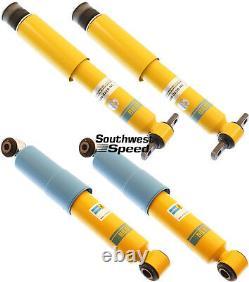 New Bilstein Shock Absorber Set, Front & Rear Shocks, 84-87 Corvette, Monotube, Gas
