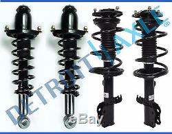 New Complete Front and Rear Strut & Coil Spring Set for 2003-2008 Toyota Corolla