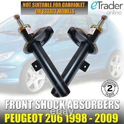 Peugeot 206 Front Shock Absorbers x 2 Pair Shockers Dampers 1998-2009 Shocks NEW