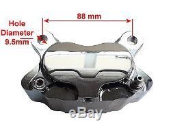 Project Bobber Custom Black Left Side Front Brake Caliper For Springer Forks
