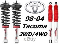 Rancho Front Quicklift Struts & RS5000 Rear Shocks For 98-04 Toyata Tacoma 2/4WD