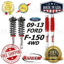 Rancho Front Quicklift Struts & RS5000X Rear Shocks For 09-13 Ford F-150 4WD