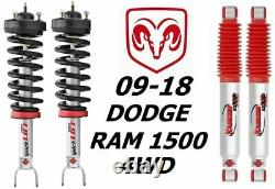 Rancho Front Quicklift Struts RS9000XL Rear Shocks For 09-18 Dodge Ram 1500 4WD