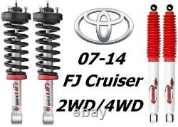Rancho Quicklift Struts+RS5000X Rear Shocks For 07-14 Toyota FJ Cruiser 2WD/4WD