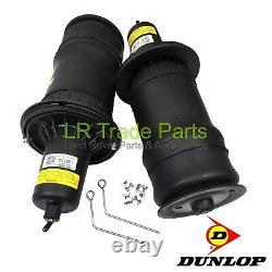 Range Rover P38 Front Air Springs Air Bags New Dunlop Pair X 2 Reb101740g +clips