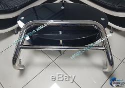 Renault Trafic Bull Bar Chrome Nudge A-bar 2001-2014 New (nx1) S. Steel