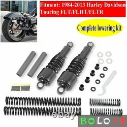 Shock Absorbers Lowering Kit For Harley Touring Road King Electra Glide 1984-13