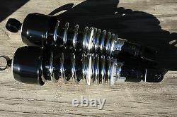 Shocks 11 292mm EYE TO CLEVIS shorty short HEAVY DUTY bobber black & chrome