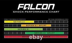 TeraFlex Falcon 3.1 Front & Rear Shocks For 3-4.5 Lift 07-18 Jeep JK 4 Door