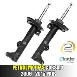 Vauxhall Corsa D Front & Rear Shock Absorber Absorbers X4 1.0 1.2 1.4 2006-2015